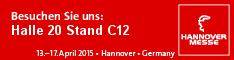 Фирма DMH ще участва в Hannover Messe  от 13 до 17 април 2015. Палата 20, щанд С12